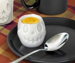 skull shaped boiled egg mold