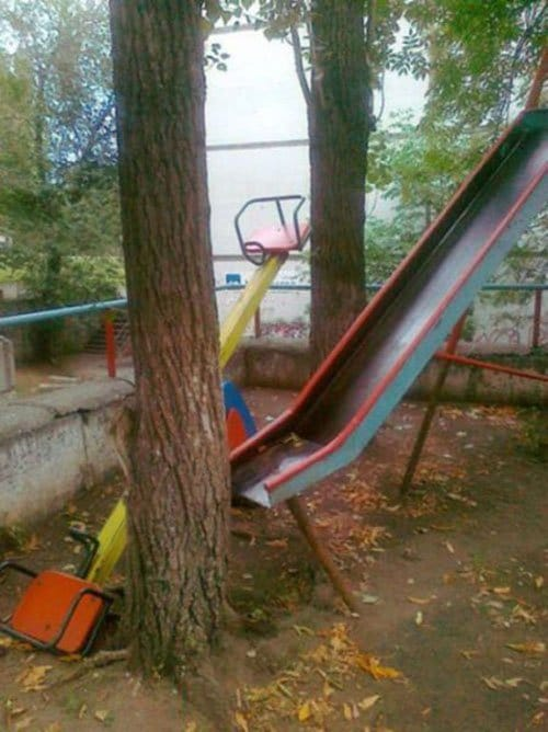 slide-into-tree