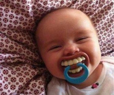 smiling pacifier