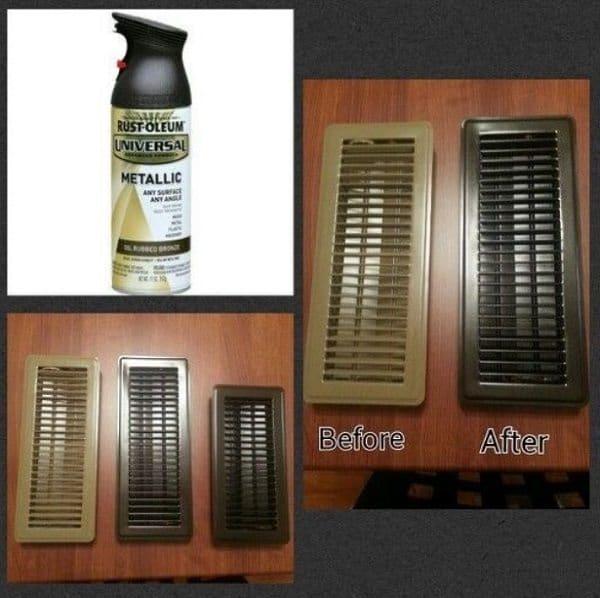 spray paint air vents
