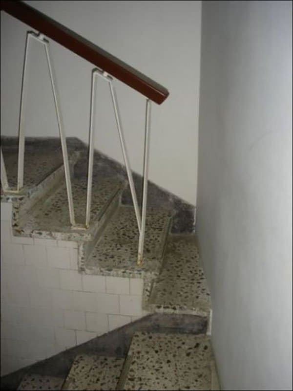 stairway with tiny access gap