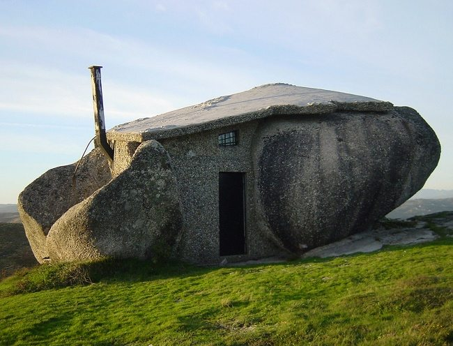 stone house front