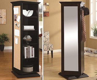 swivel cabinet brown