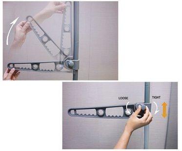 tension pole clothes hanger mechanism