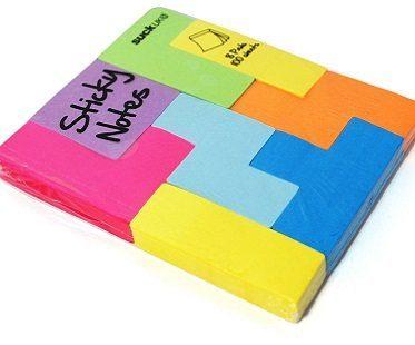 tetris sticky notes pad