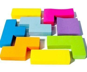 tetris sticky notes pads
