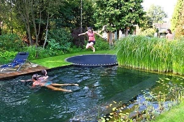 trampoline diving board