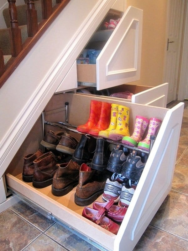 under stairs pull out drawers