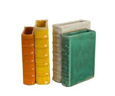 vase bookends plain