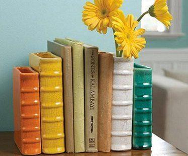 vase bookends sunflower