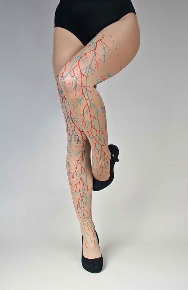 veins and arteries tights