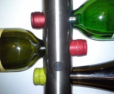 wall mounted wine rack close