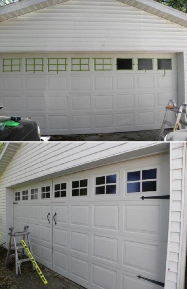 windows on garage door