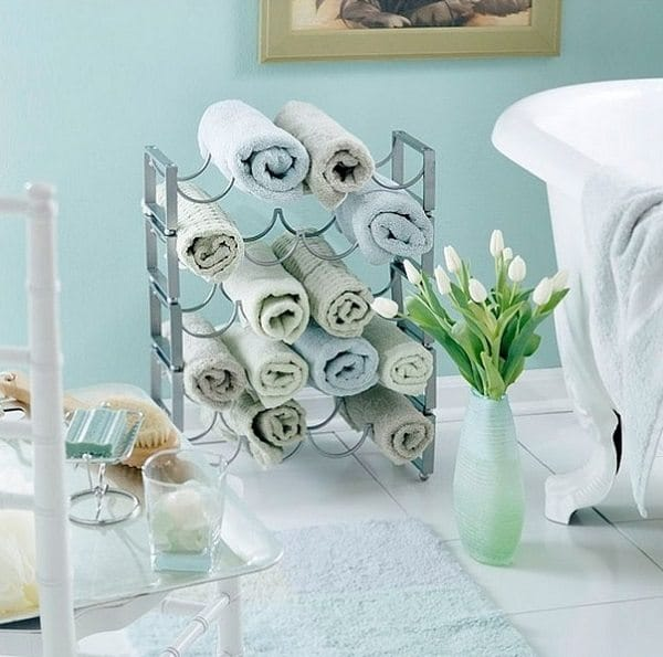 wine rack towels