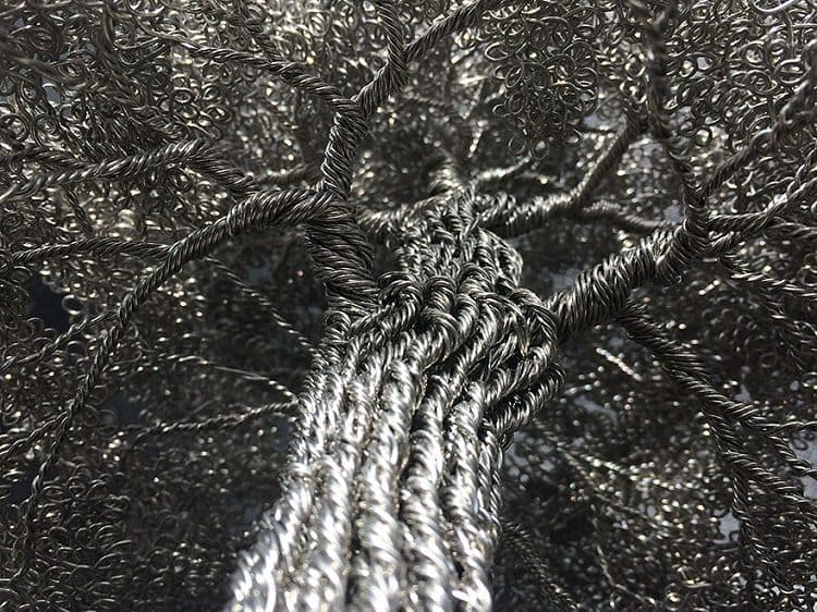 wire tree close up