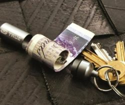 Cash Capsule Key Ring