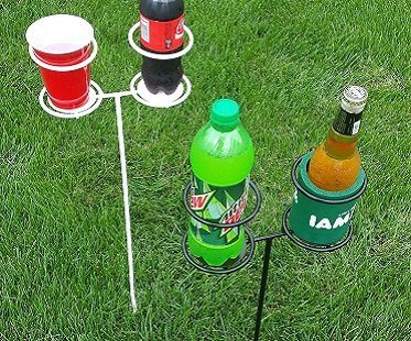Outdoor Drink Stakes grass