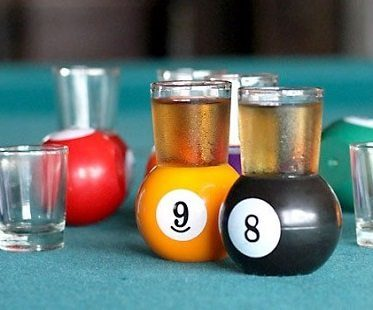 Pool Ball Shot Glasses