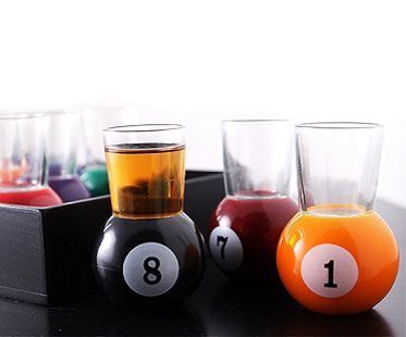 Pool Ball Shot Glasses drink