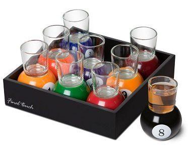 Pool Ball Shot Glasses set