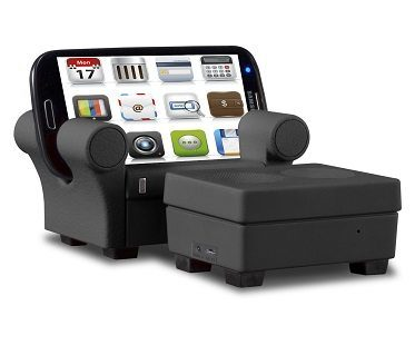 Speaker and Charger Phone Chair black
