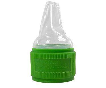 Toddler Water Bottle Cap Adapter green
