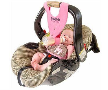 baby bottle sling pink