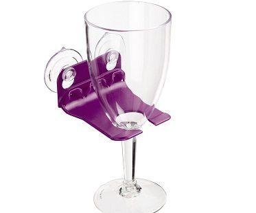 bathtub wine glass suction