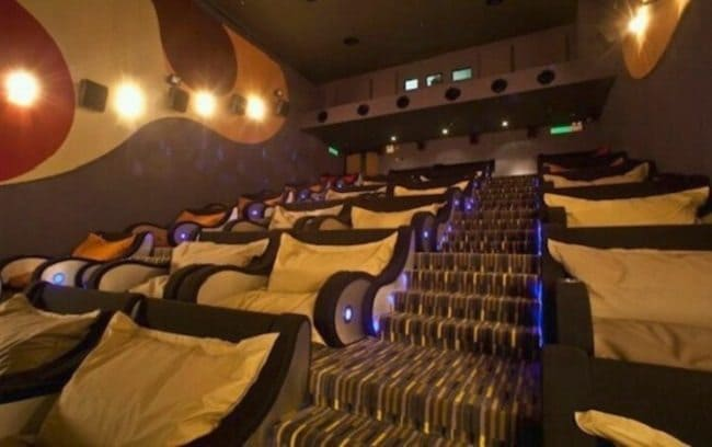 cinema with bean bag seats