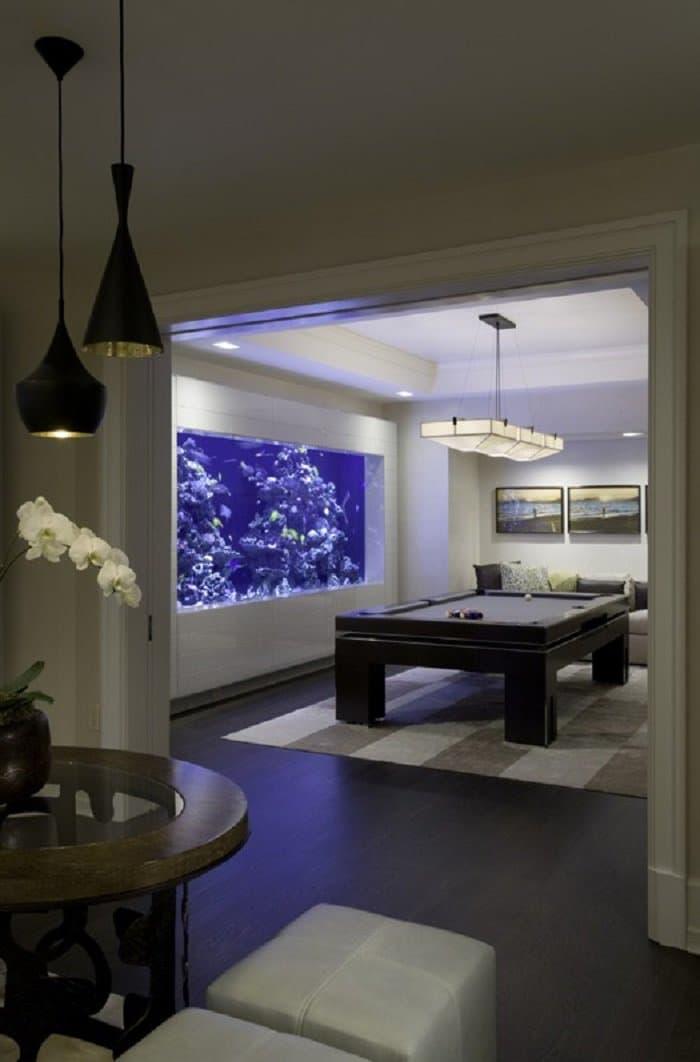 billiards room aquarium