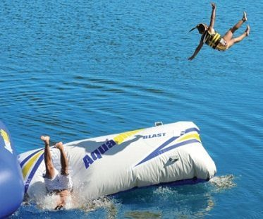 body launching inflatable water