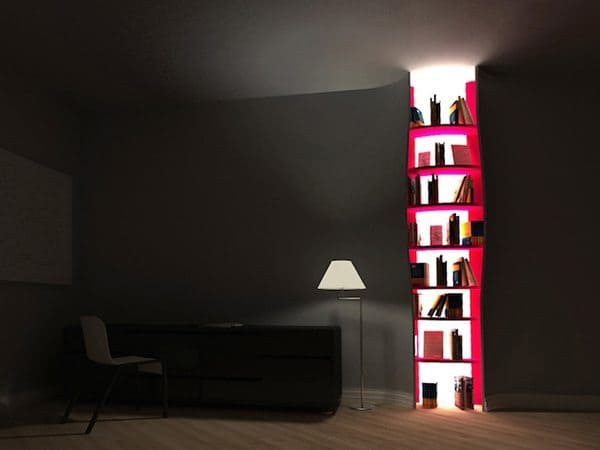 bookcase in walls