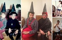 brothers recreate family photos