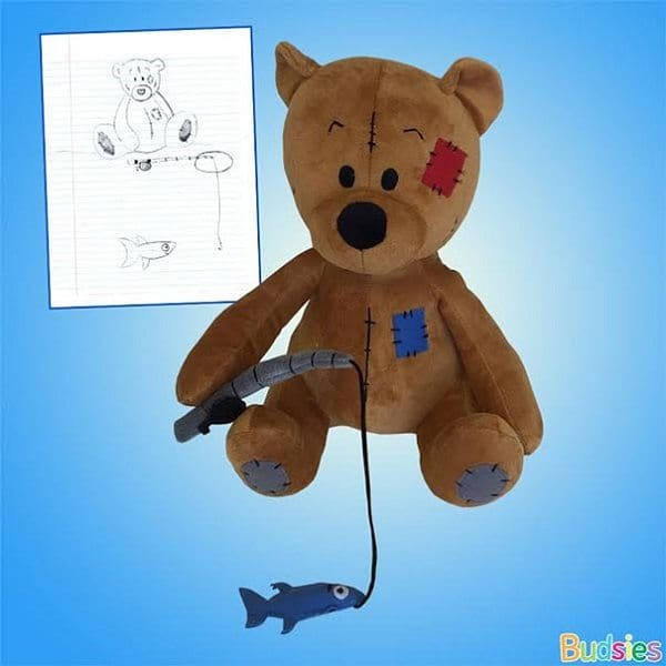 budsies-plush-toys-children-drawings-fishing bear