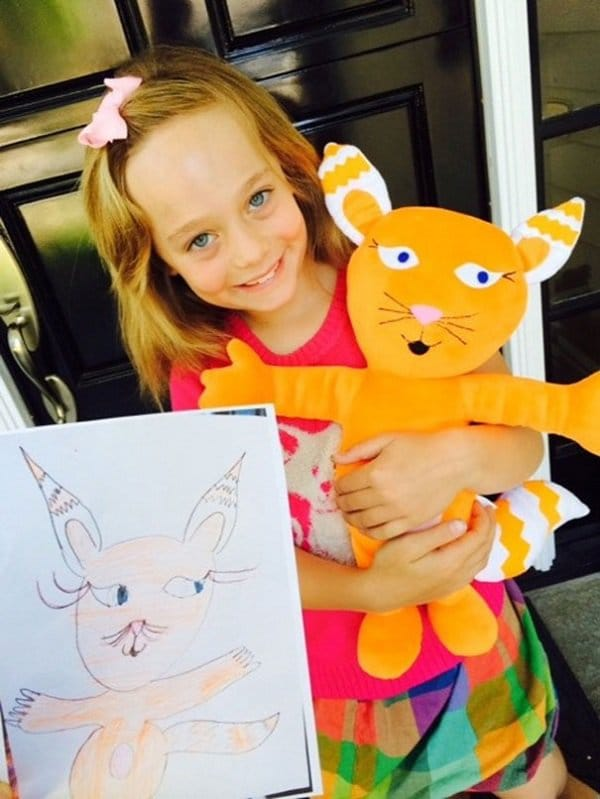 budsies-plush-toys-children-drawings-girl with cat
