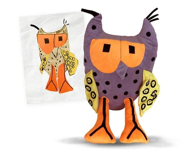 budsies-plush-toys-children-drawings-owl