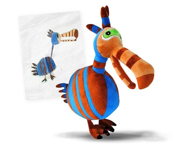 budsies-plush-toys-children-drawings-stripy dodo