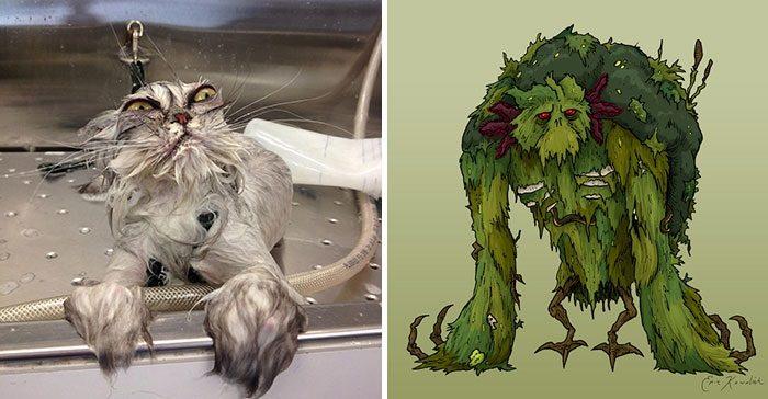 cat swamp monster