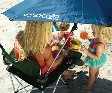 clampable umbrella beach chair