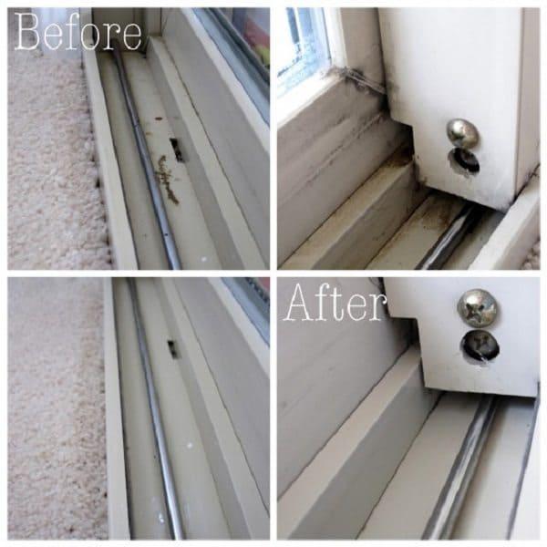 cleaning window tracks