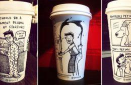 coffee cup cartoons