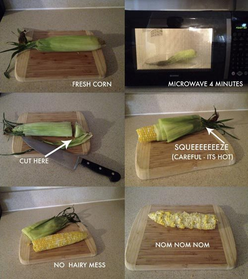 cooking corn cob