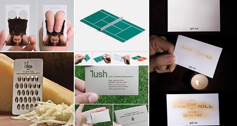these creative business cards are borderline genius