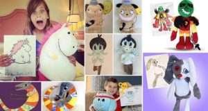 drawings to plushies