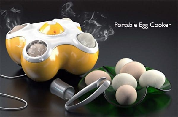 portable machine cooking eggs