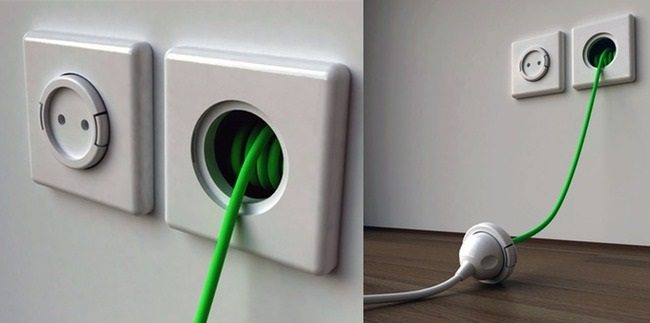 wall outlet that has an extension lead cable