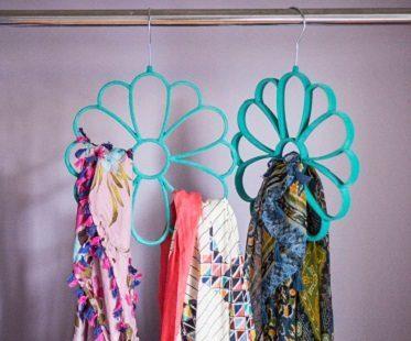 flower scarf hangers