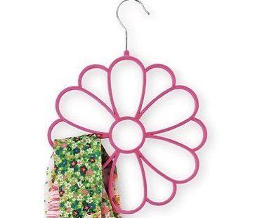 flower scarf hangers pink