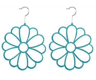 flower scarf hangers turquoise