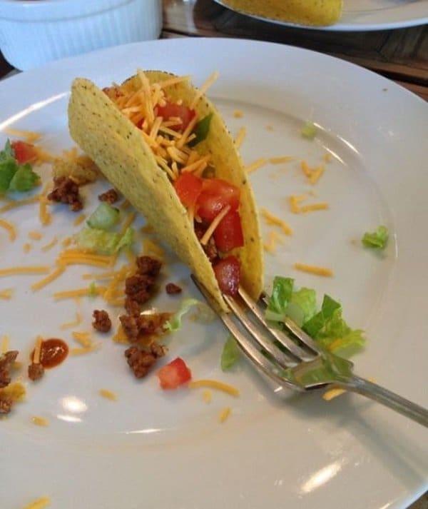 fork taco holder
